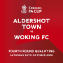 FA CUP:  THE SHOTS WILL FACE  Woking FC IN THE FOURTH QUALIFYING ROUND OF THE FA CUP!