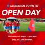 OPEN DAY: Aldershot Town are hosting an Open Day at the EBB Stadium on Wednesday 11th August!