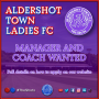 LADIES TEAM LOOKING FOR MANAGER AND COACH