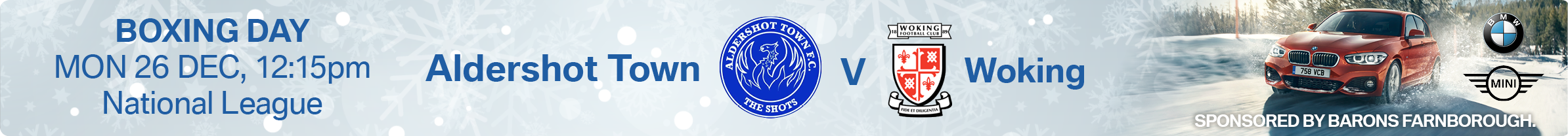 Aldershot Town F.C. vs Woking FC - Sponsored by Barons Farnborough