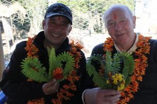 Sahara UK's Navin Gurung and ATFC Director John Leppard at Dandaswara