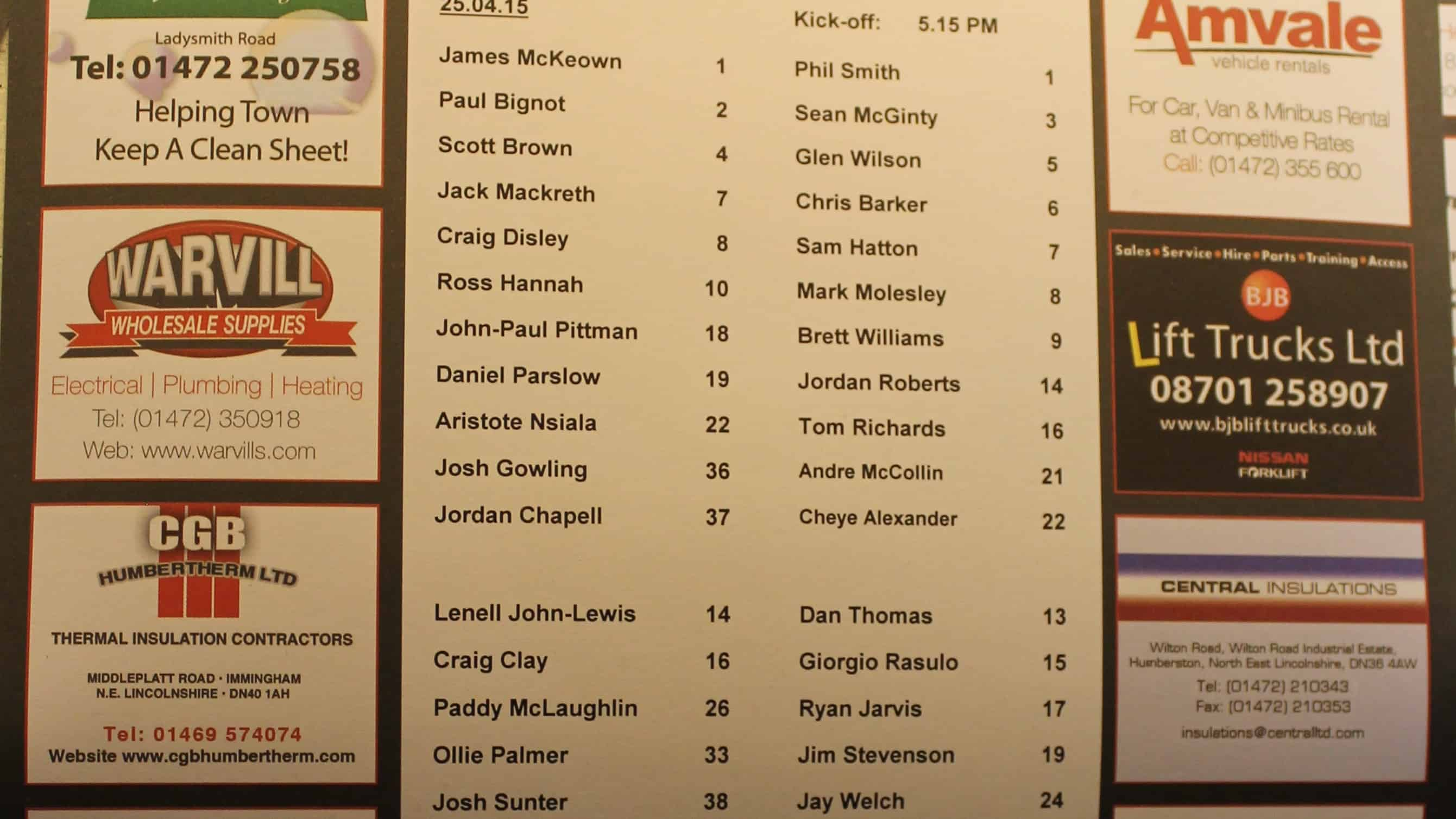 Grimsby team