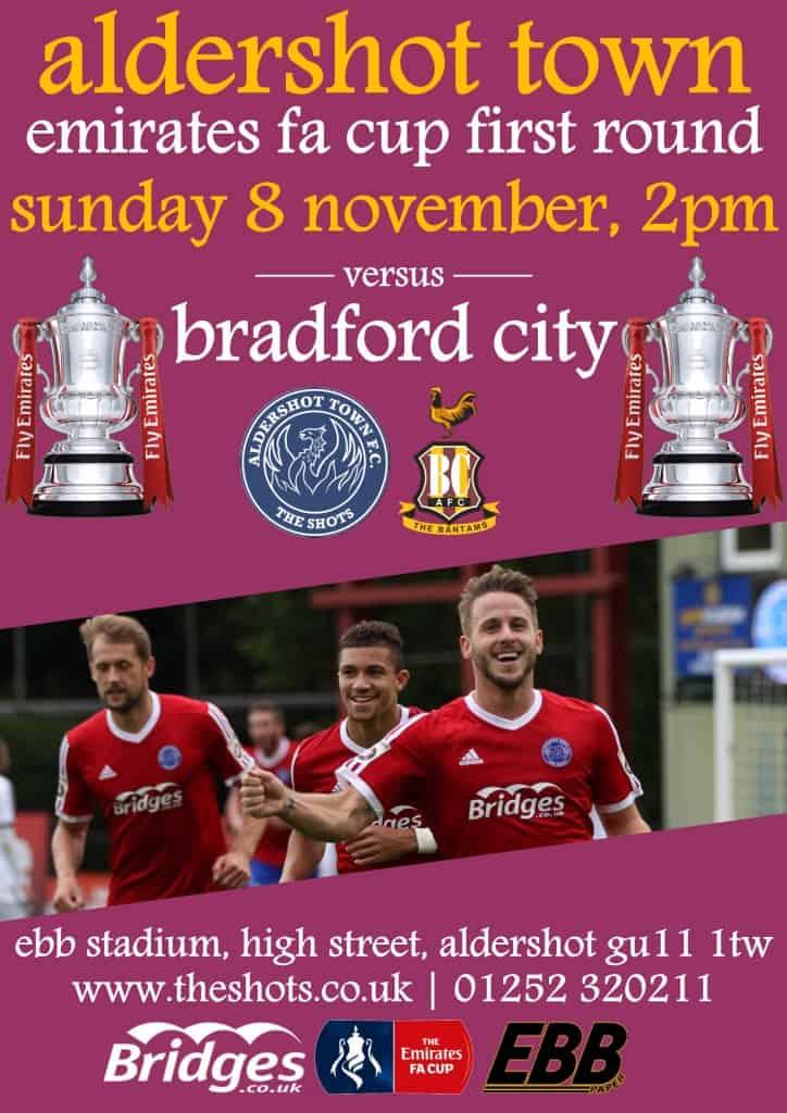 Bradford match poster