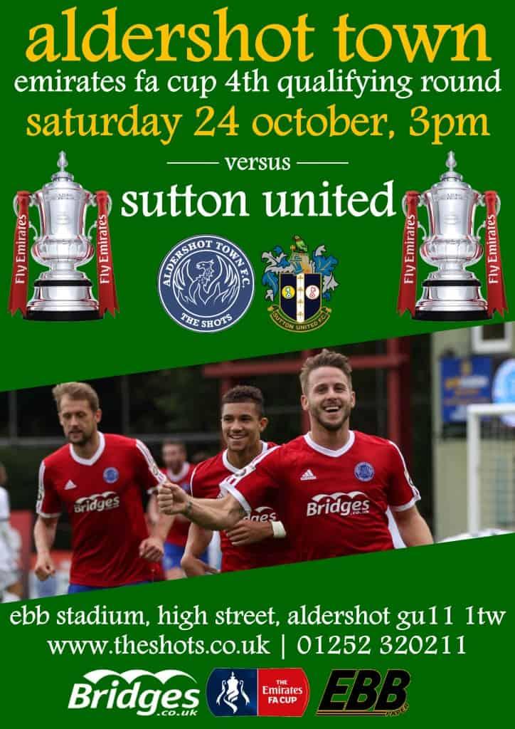 Sutton match poster