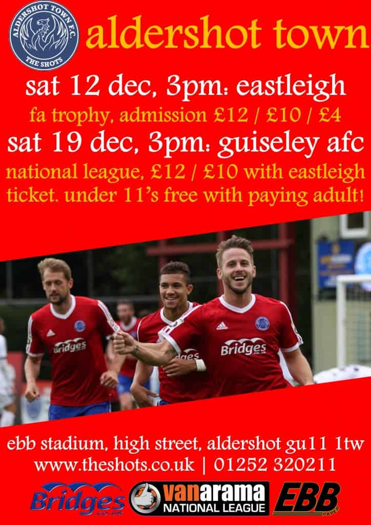 eastleigh guiseley match poster - Dec 15