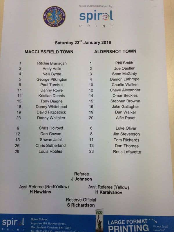 Macc team sheet Jan 16