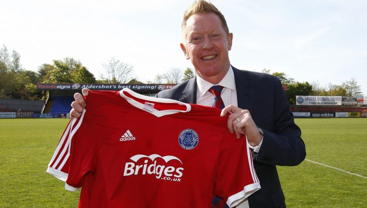 gary Waddock the new Aldershot Town manager