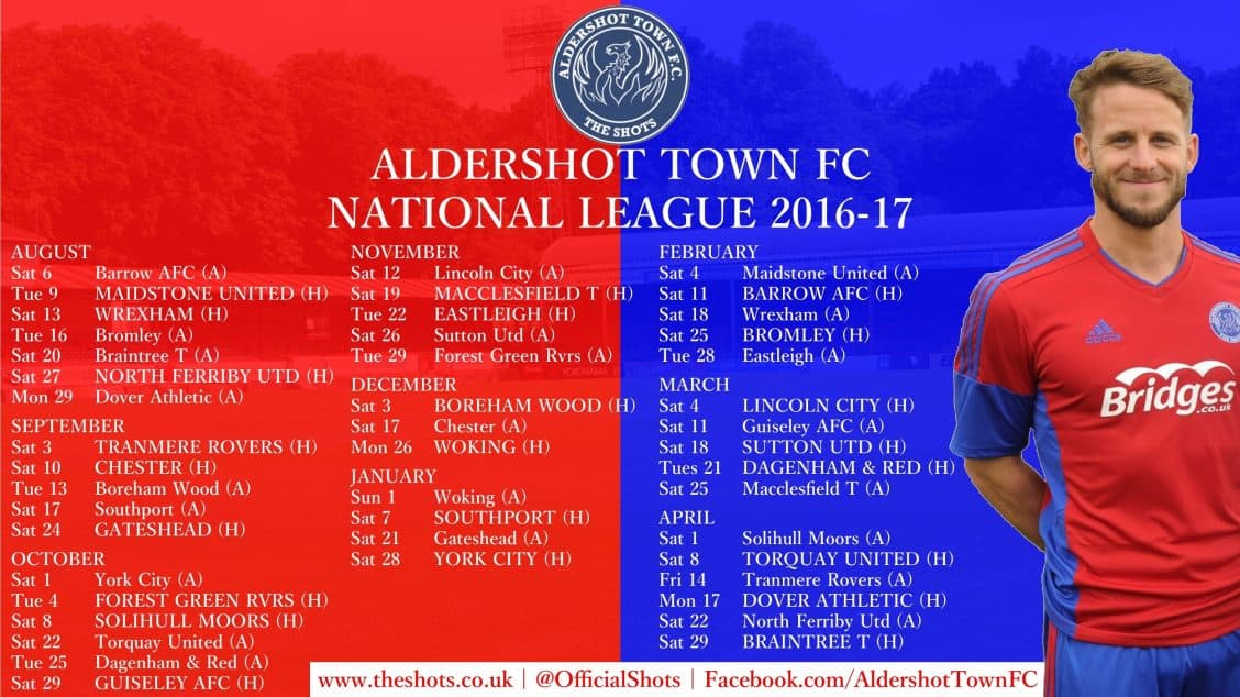 ATFC 2016-17 fixtures