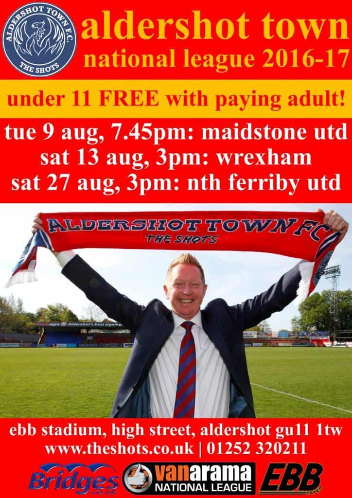Fixture poster 2016-17 - August