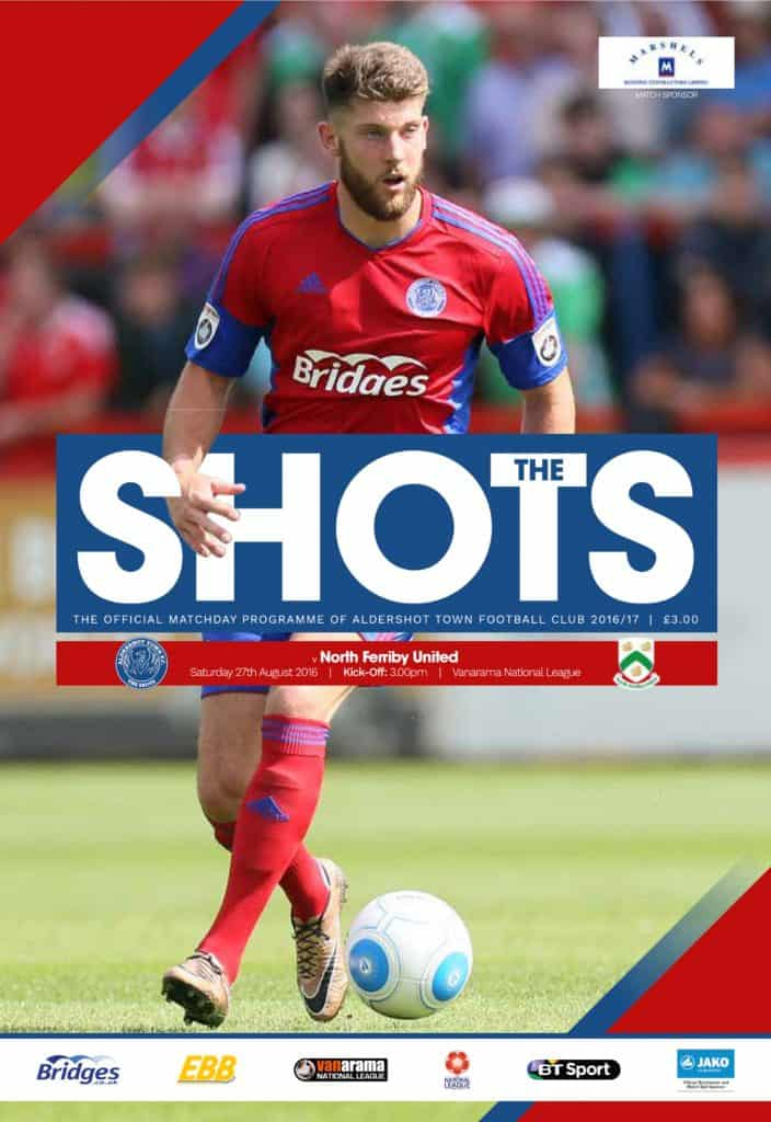 North Ferriby programme cover