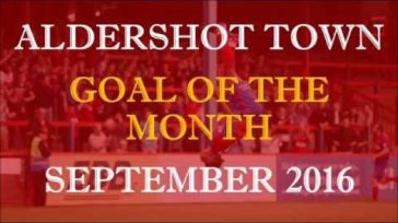 Goal of the Month – September 2016