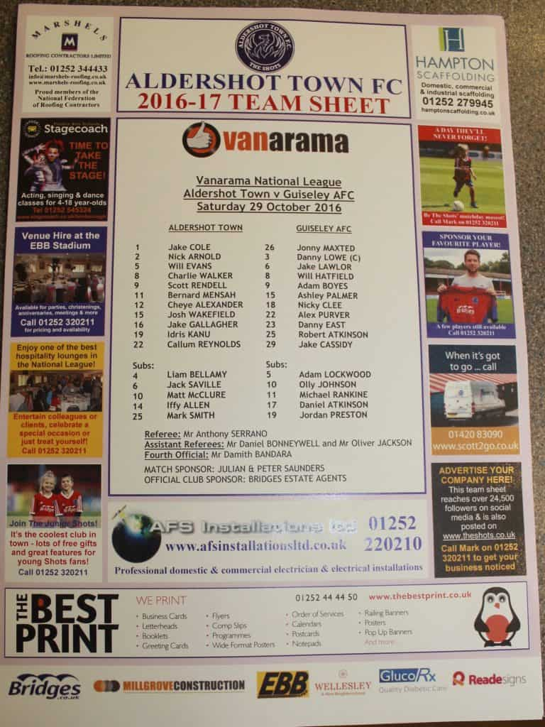 guiseley-team-sheet
