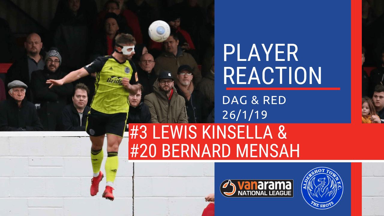 ShotsTV: Lewis Kinsella & Bernard Mensah react to Dagenham