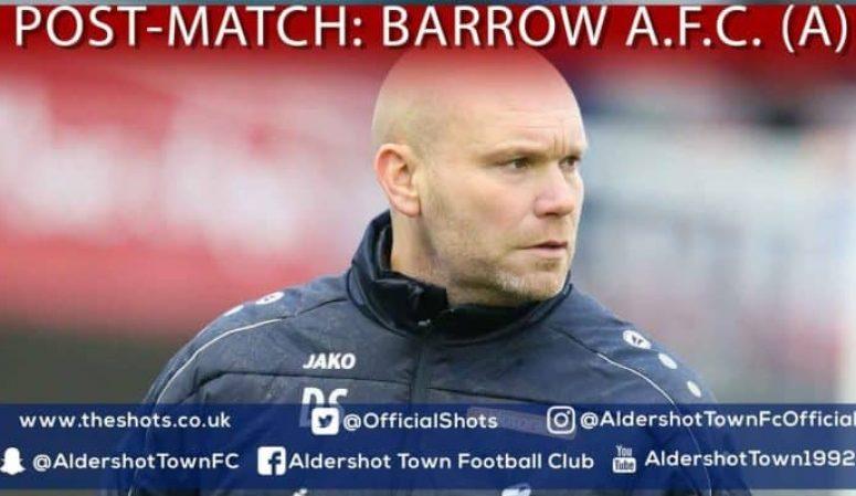 Danny Searle Post-Match: Barrow A.F.C (A)