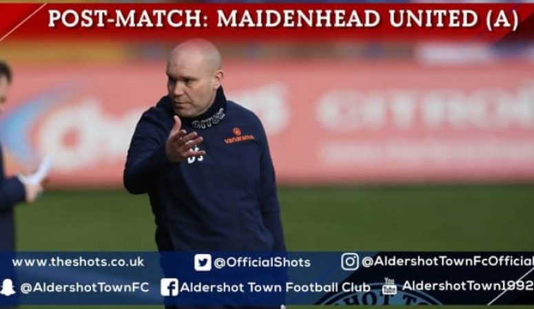 Danny Searle Post-Match: Maidenhead United (A)