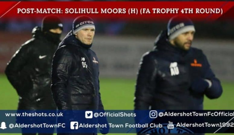 Danny Searle Post-Match: Solihull Moors (H) (FA Trophy 4th Round)