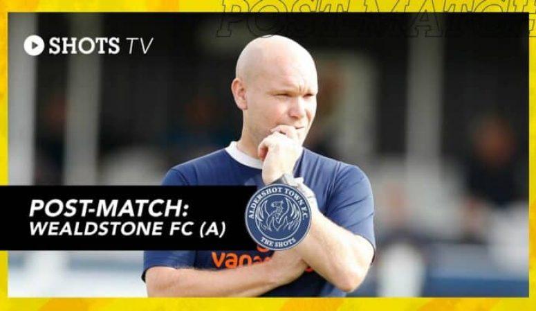 Danny Searle Post-Match: Wealdstone FC (A)
