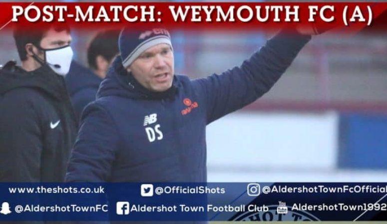 Danny Searle Post-Match: Weymouth FC (A)