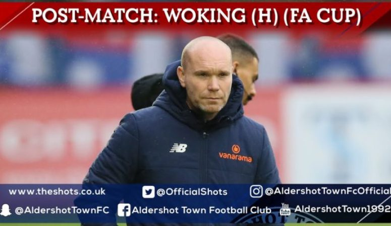 Danny Searle Post-Match: Woking FC (H) (FA Cup Fourth Qualifying Round)