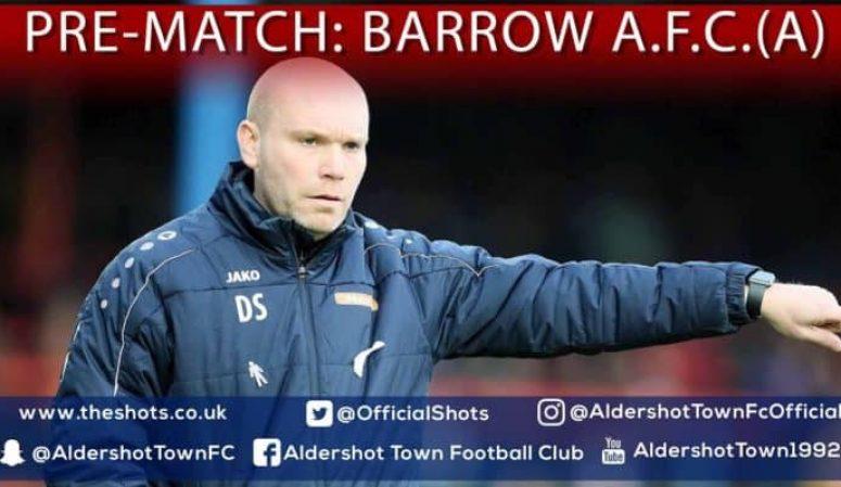 Danny Searle Pre-Match: Barrow A.F.C. (A)