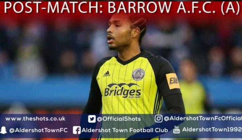 Harrison Panayiotou Post-Match: Barrow A.F.C. (A)