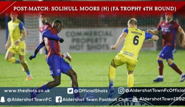 Joel Nouble Post-Match: Solihull Moors (H) (FA Trophy 4th Round)