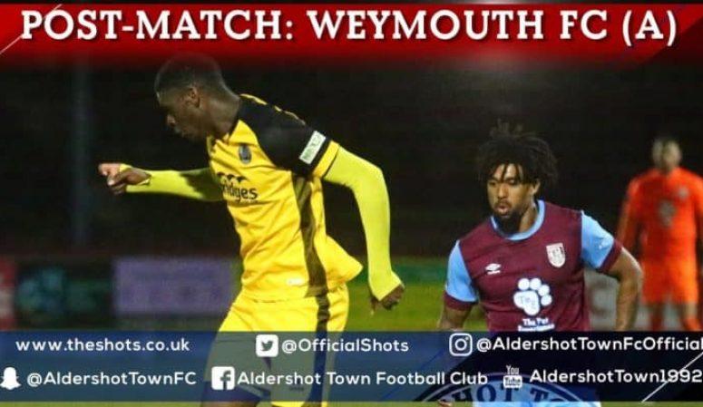 Joel Nouble Post-Match: Weymouth FC (A)