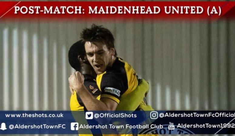 Josh Rees Post-Match: Maidenhead United (A)