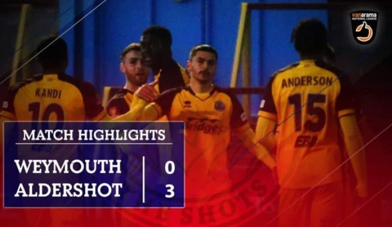MATCH HIGHLIGHTS: Weymouth FC (A)