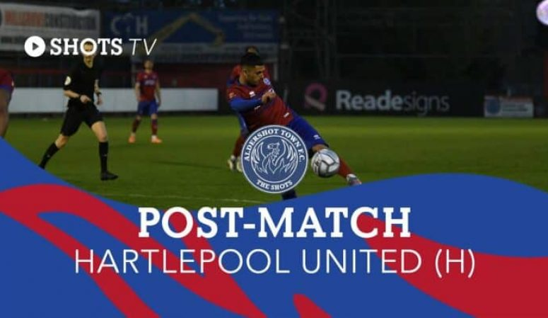 Toby Edser Post-Match: Hartlepool United (H)